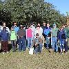 Group photo of volunteers from the Arbor Day 2020 planting.