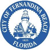 City of Fernandina Beach Blue and White Logo, no background